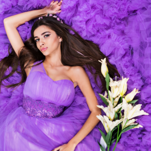 FEMME-ROBE-LILAS